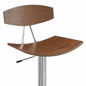 Chaise De Bar Bois : chaise de bar bois chrome blade noyer monde du tabouret ~ Dailycaller-alerts.com Idées de Décoration