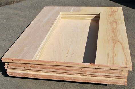 tiny house non warping patented wooden pivot door