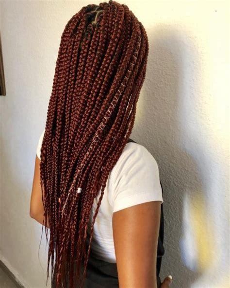hottest burgundy box braids