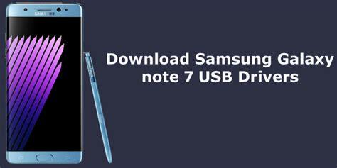 samsung galaxy note 7 usb drivers