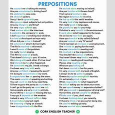 131 Best Prepositions Images On Pinterest