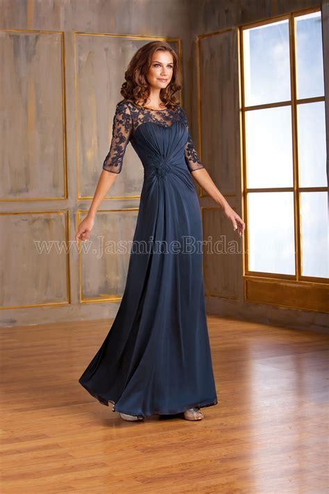 long illusion neckline chiffon lace mob dress