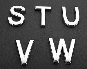do4u 1pcs silver metal letters a z alphabet english With metal mailbox numbers and letters