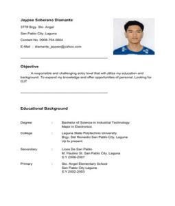 Exle Of Resume Objectives For Ojt by Sle Resume Objective For Ojt Students