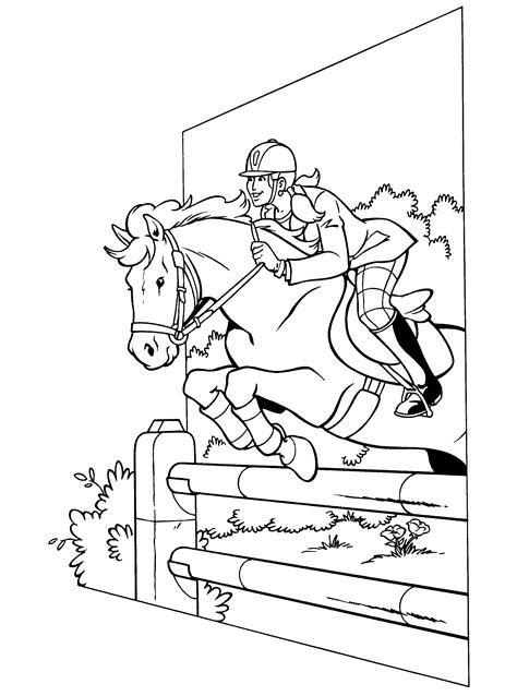 Kleurplaat Paardrijden Springen by Kleurplaten Paradijs Kleurplaat Hedwig Springt Met Haar