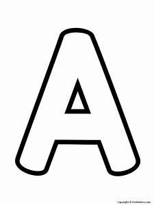 Letter Outlines Printable Outline Letters Uppercase Prekinders