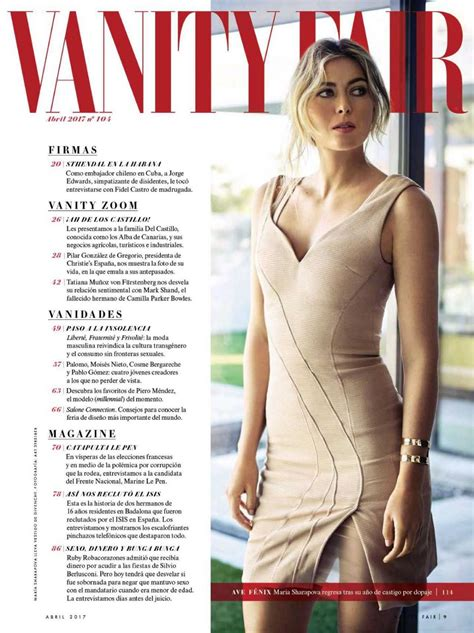 sharapova in vanity fair magazine spain april 2017