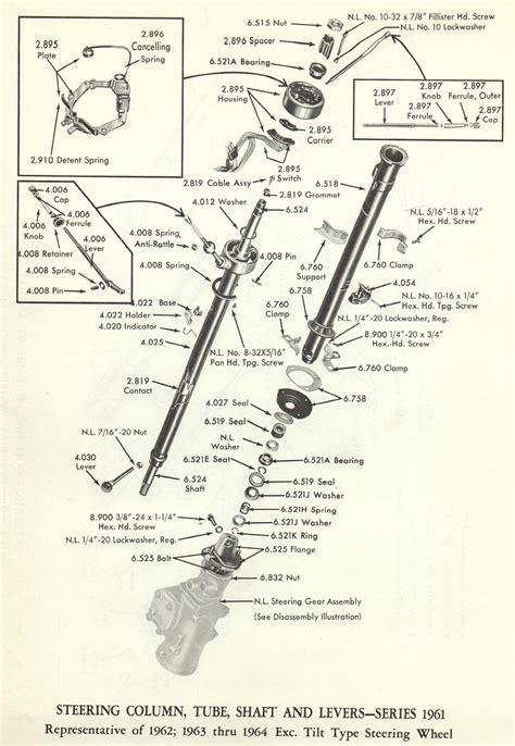 cadillac steering column tube shaft