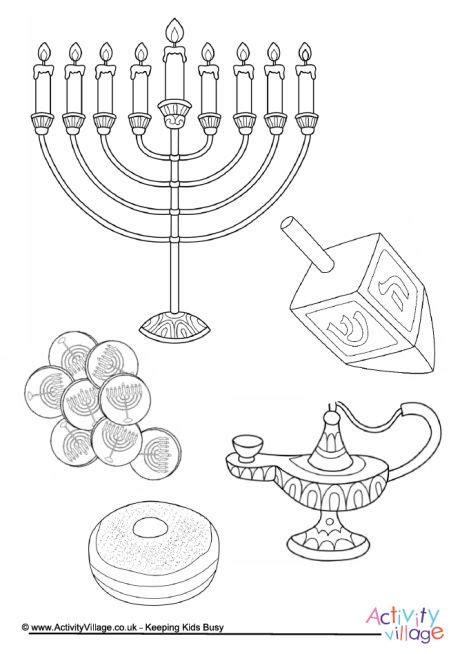 hanukkah colouring page