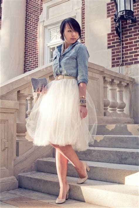 shabby apple tutu skirt sky blue denim forever 21 shirts cream tulle shabby apple skirts quot fairy tale quot by