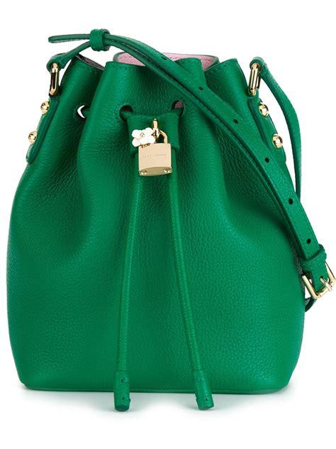 dolce gabbana bucket shoulder bag  green lyst