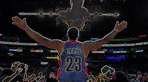Lebron James Chalk Toss Basketball Art Landscape Painting ...