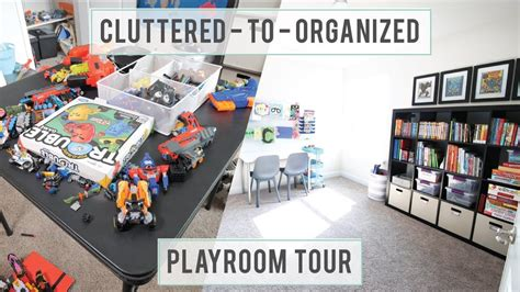declutter kids toys   organized playroom