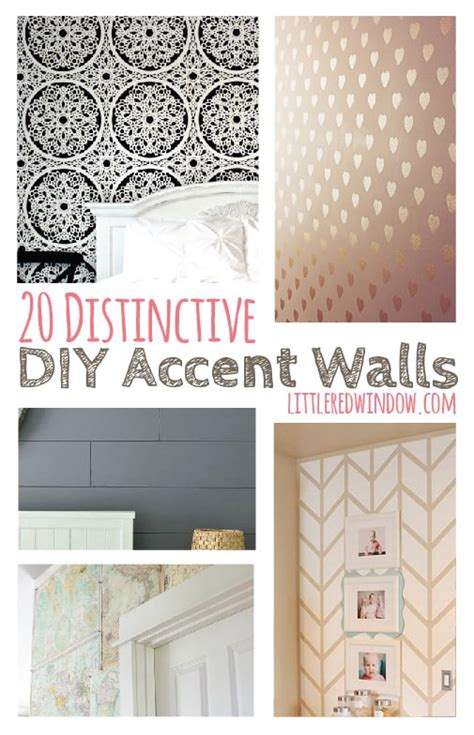 distinctive diy accent walls page     red
