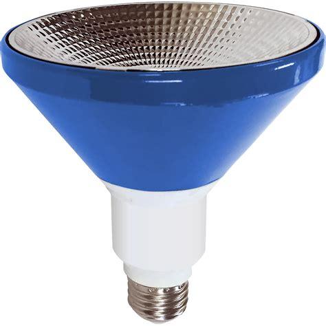 led outdoor flood light bulbs illumin8 i8par38 deco bl par38 blue led light bulb non