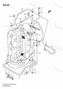 Suzuki Outboard Parts By Model Df 175 Oem Parts Diagram For Thermostat