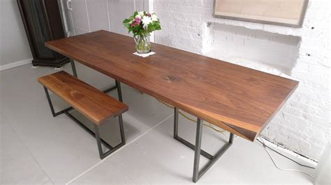 handmade kitchen table and chairs handmade walnut dining table by harvest home steel
