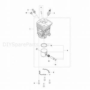 Husqvarna 455 Rancher Chainsaw  2012  Parts Diagram  Cylinder Piston