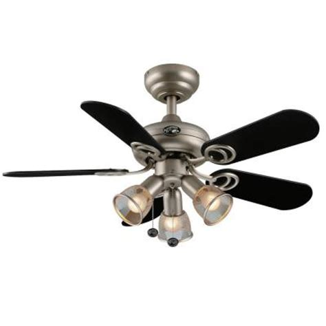 metal fans at home depot hton bay san marino 36 in brushed steel ceiling fan