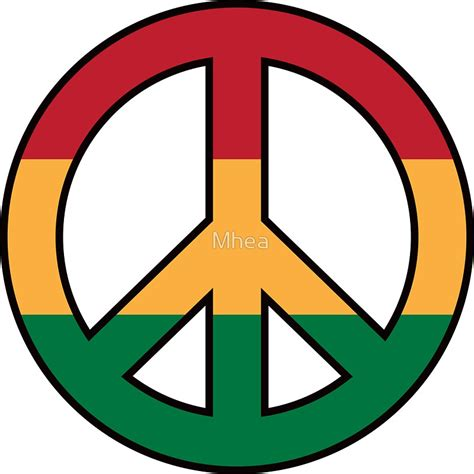 rastafari colors quot peace symbol with rasta colors quot stickers by mhea redbubble