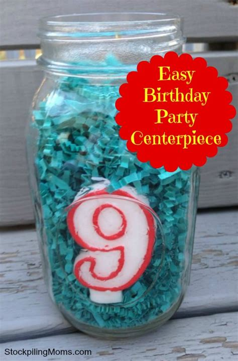 Kitchen Centerpiece Ideas - inexpensive birthday centerpiece