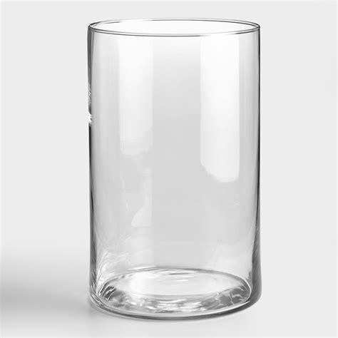 clear glass vases clear cylinder vase world market