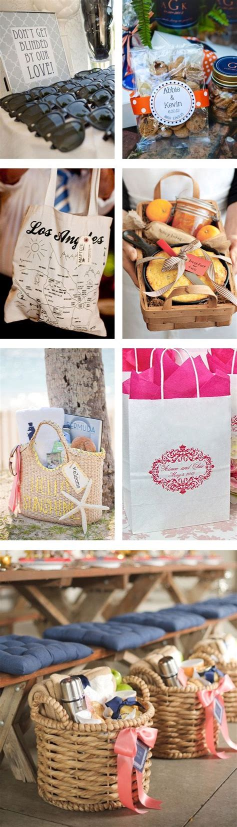 Welcome Bags Wedding T Bags And Hangover Helpers On