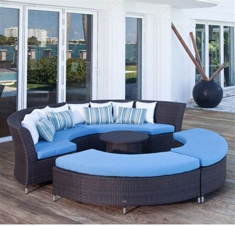 coastal circular outdoor sectional sofa outdoor sofas