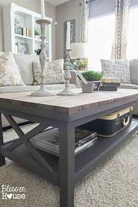 barn wood top coffee table With white and grey wood coffee table