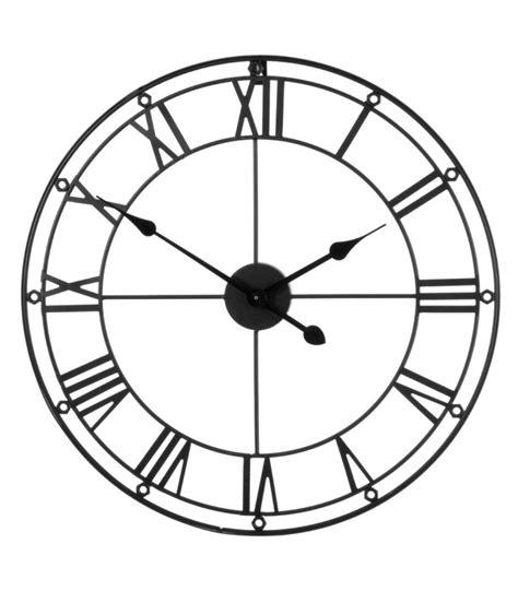 horloge murale personnalisee photo grande horloge murale ronde en m 233 tal noir chiffres romains