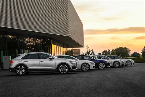 Audi Full-size Cars Line Up For Photoshoot