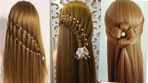 peinados recogidos faciles  cabello largo bonitos  rapidos  trenzas  nina p youtube