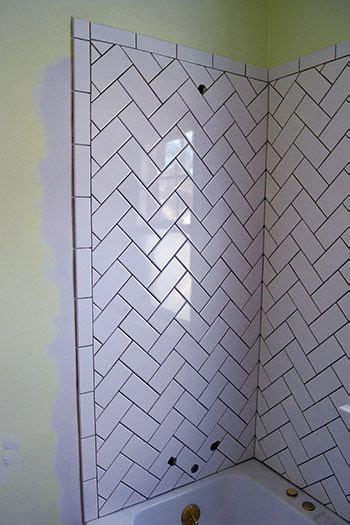 herringbone subway tile ideas  pinterest subway tile patterns herringbone