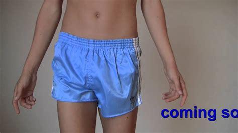 Shiny shorts cute twink adidas Glanzshorts   Doovi