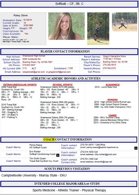 sample athletic resumes athletic resume out of darkness