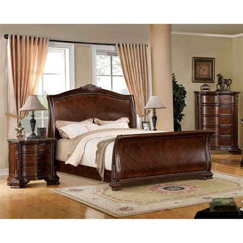 Bedroom Furniture Sets Without Bed by Furniture Of America Eliandre Baroque Style 3 Sleigh