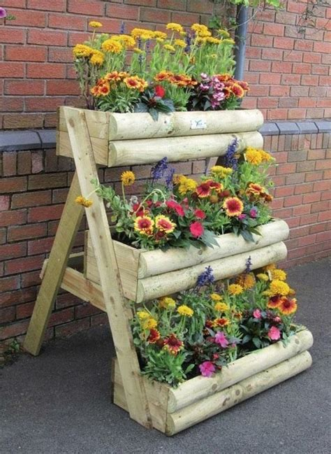 Garden Decoration Ideas With Pots by Wooden Flower Pots Ideas Crafts Of All Kinds Diy