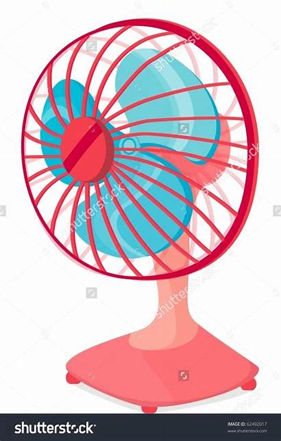 Fan Clipart Table Electric Illustration Vector Background