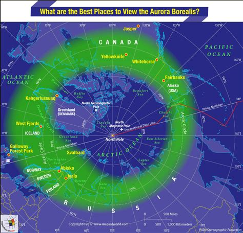 northern lights viewing map what are the best places to view the aurora borealis