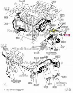 New Factory Oem Heater Tube Hose 2003 Ford Taurus  U0026 Mercury Sable 3 0l V6 Dohc