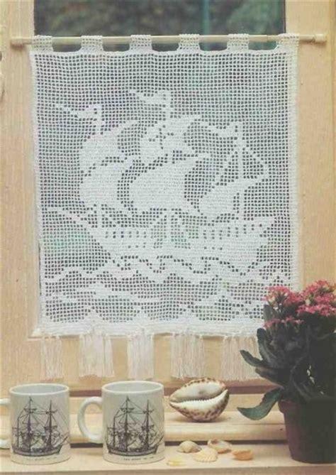 Modã Le De Rideau Au Crochet D by Rideaux Et Leurs Grilles Gratuites Au Crochet Le