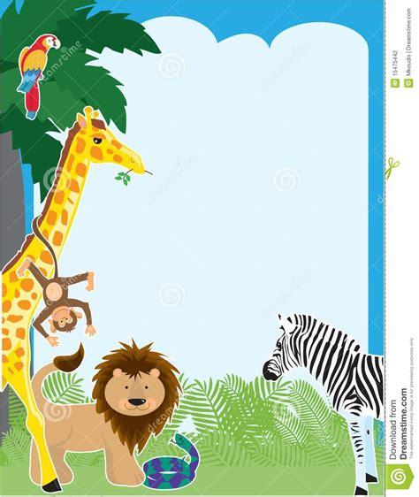 jungle border stock vector image  illustration clip