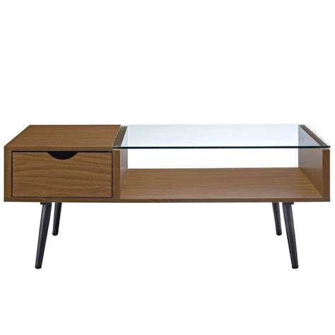 Thomas round side table with storage round coffee table modern coffee table furniture wood side table living room. Wood and Glass Coffee Table - Acorn in 2020 | Furniture, Modern coffee tables, Coffee table with ...