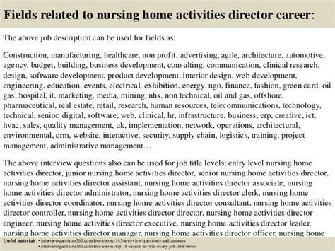 top 10 nursing home activities director