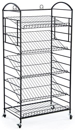 tier bakers rack removable shelves lay flat  angled