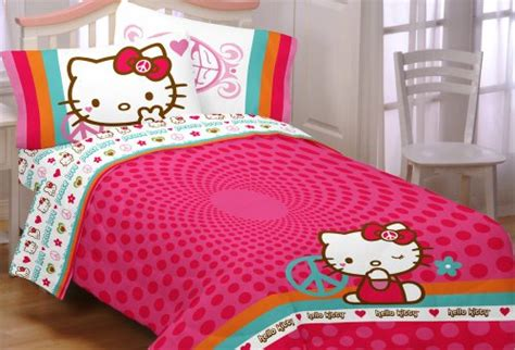 cheap  kitty peace kitty twin comforter  sale bed