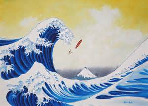 Wipe Out Surf Art