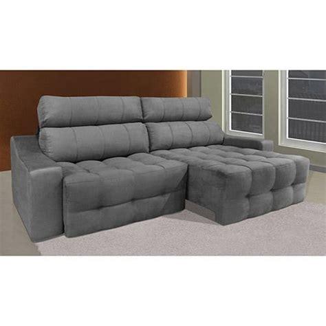 sofa retratil e reclinavel sofá 4 lugares reclinável e assento retrátil connect suede