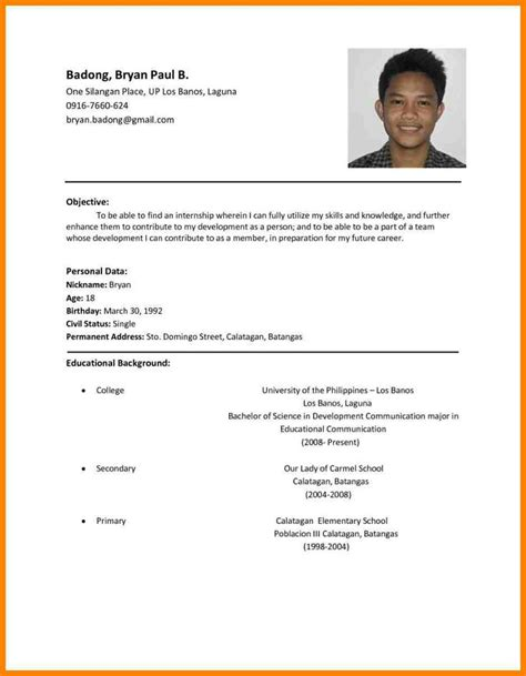 resume samples philippines  images sample