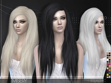 stealthic misery hairstyle sims  hairs http
